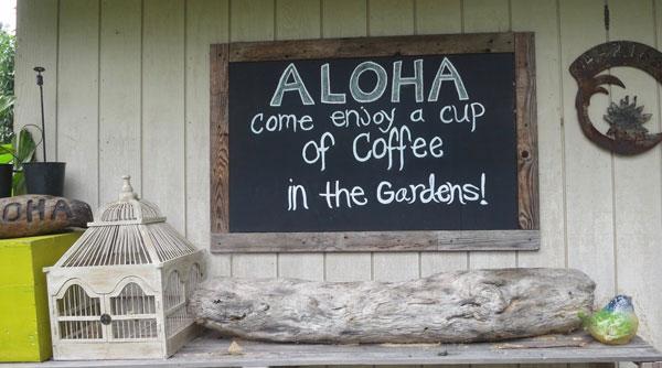 Buch Sign Aloha Coffee
